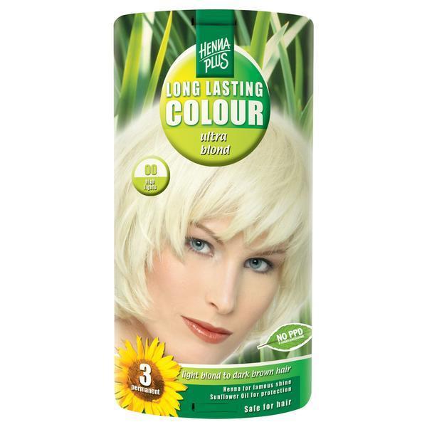 Decolorant, Long Lasting Colour Ultra Blond 00, Hennaplus, 140 ml poza