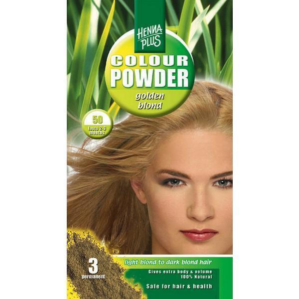 Pudra de hena, Colour Powder Golden blond 50, Hennaplus, 100 gr imagine produs