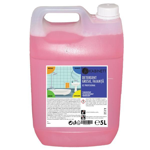 Detergent pentru suprafete gresie si faianta Kabinett 5000 ml esteto.ro