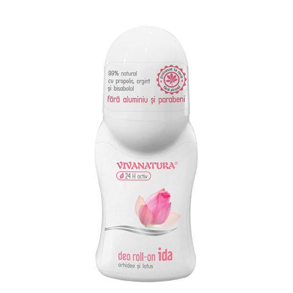 Deodorant Roll-On Ida Orhidee si Lotus Vivanatura, 50 ml imagine produs