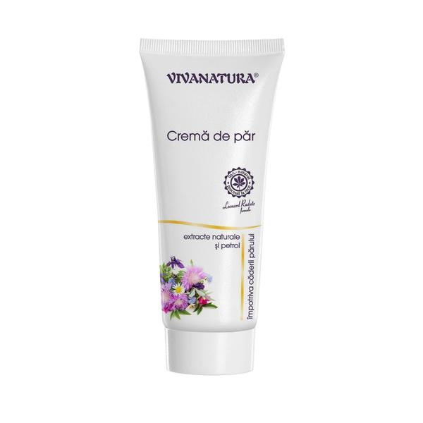 Crema Par Extract Natural si Petrol Impotriva Caderii Parului Vivanatura, 75 ml imagine produs