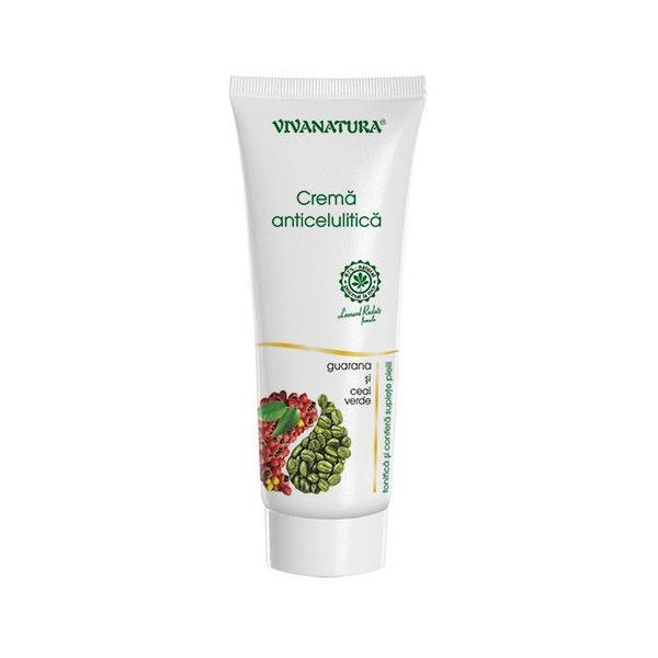 Crema Anticelulitica Guarana si Ceai Verde Vivanatura, 250 ml imagine produs