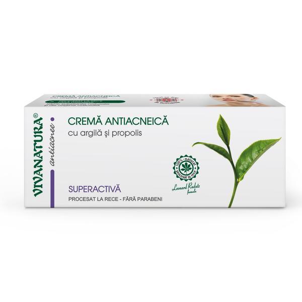 Crema Antiacneica cu Argila si Propolis Vivanatura, 20 ml imagine produs