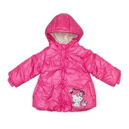 Geaca de iarna cu gluga, Charmmy Hello Kitty, Roz, 81 cm, 18 luni