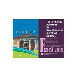 Set admitere UMF Carol Davila-Fizica+Biologie(ed. 2019) editura UMF Carol Davila