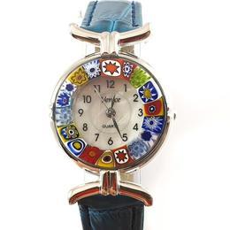 Ceas Venice Blue cu sticla de Murano 3 - SaraTremo