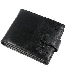 Portofel pentru barbati WESTPOLO PT246, piele naturala, calitate Premium, negru