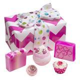 Set cadou Glitter Gift, Bomb Cosmetics, bile de baie si sapun solid, 600 g