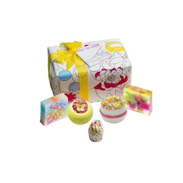 Set cadou Colour Me Happy, Bomb Cosmetics, bile de baie si sapun solid, 600 g esteto.ro