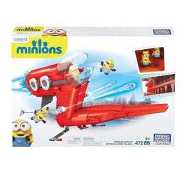 Set de constructie MegaBloks cu Minions, Supervillain Jet Aircraft, 472 piese