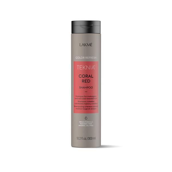 Sampon nuantator pentru par roscat Coral Red Lakme,300 ml imagine produs