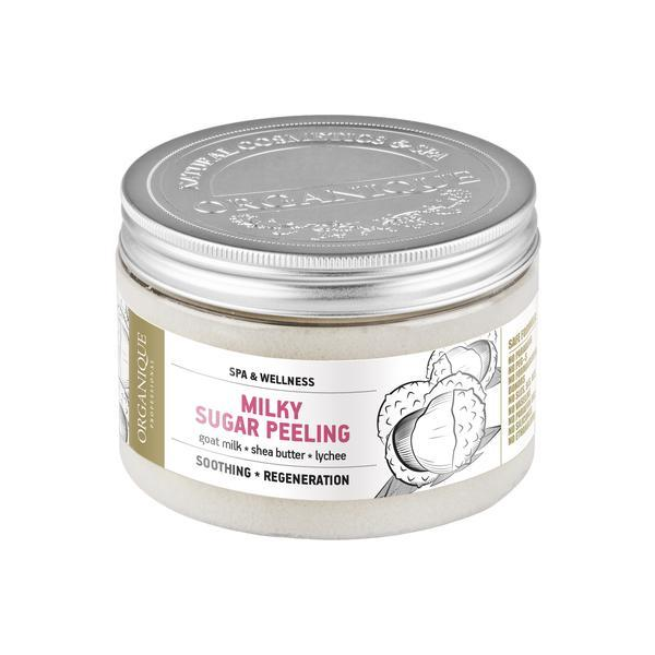 Exfoliant corp, cu lapte de capra, shea, lichi si perle, Organique, 450 ml imagine produs