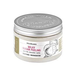 Exfoliant corp, cu lapte de capra, shea, lichi si perle, Organique, 450 ml de la esteto.ro