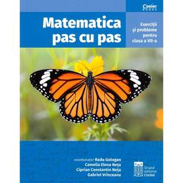 Matematica pas cu pas - Clasa 7 - Radu Gologan, editura Corint
