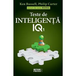 Teste de inteligenta IQ 1 - Ken Russell, Philip Carter, editura Meteor Press