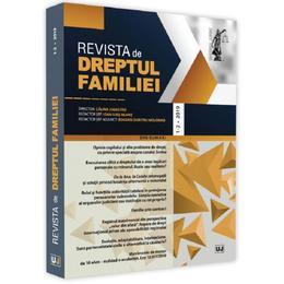 Revista de Dreptul Familiei 1-2 din 2019, editura Universul Juridic