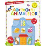 Desenez si colorez. Alfabetul animalelor 3-4 ani, editura Litera