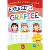 Ma pregatesc pentru scoala! Exercitii grafice 5-6 ani, editura Litera