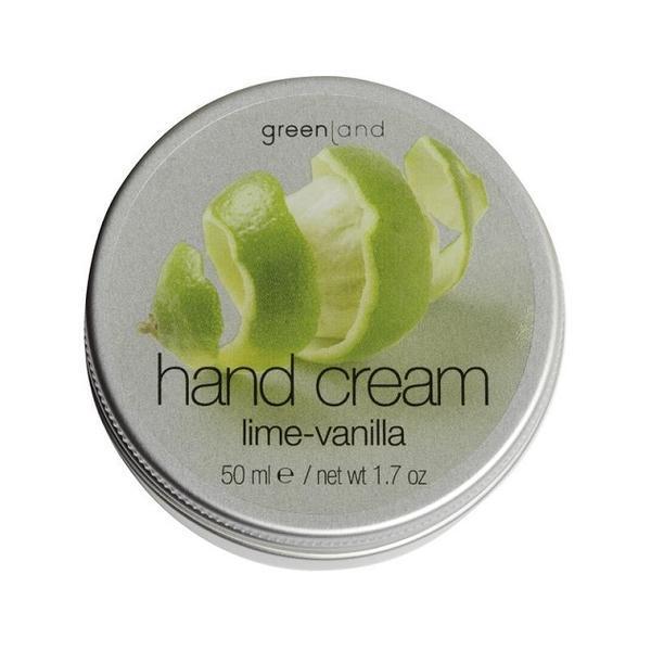 Crema maini, cu lamaie verde si vanilie, Greenland, cutie, 50 ml imagine produs