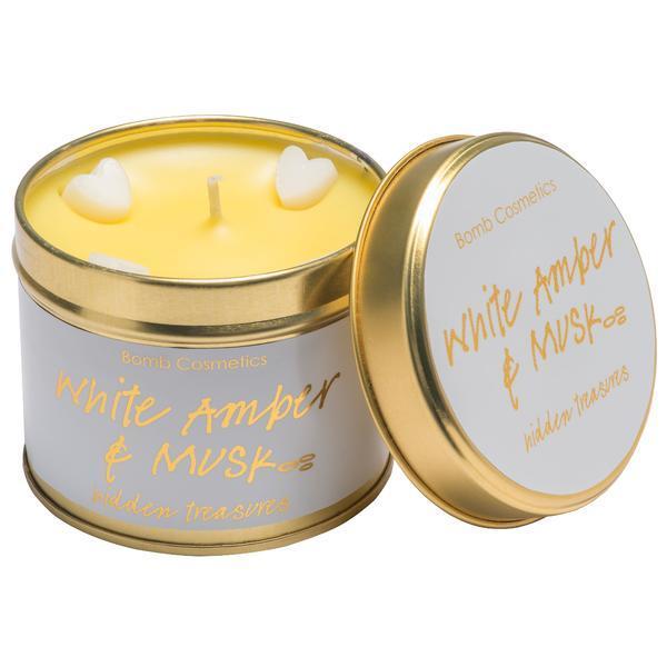 Lumanare parfumata White Amber & Musk, 200g - Bomb Cosmetics imagine produs
