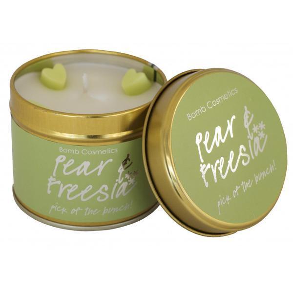 Lumanare parfumata Pear & Freesia, 200g - Bomb Cosmetics imagine produs