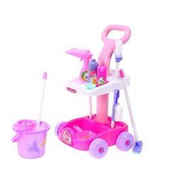 Set de joaca pentru copii MalPlay Carucior cu accesorii pentru curatenie