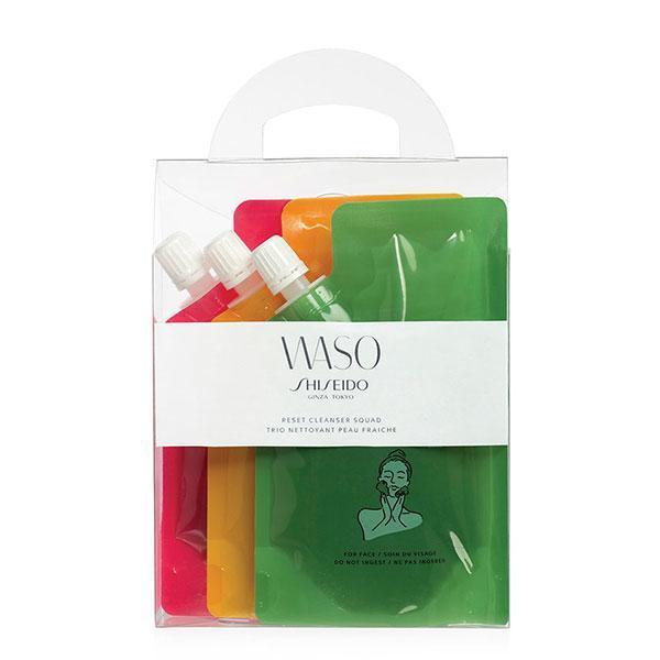 Set cadou geluri de curățare Waso Reset 3 x 70ml Shiseido poza
