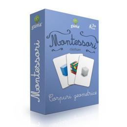 Carti de joc Montessori-Corpuri geometrice, Gama
