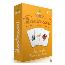 Carti de joc Montessori-Animale, hrana si adapost - Gama