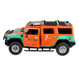 Masina de teren portocalie tip Hamer cu telecomanda si acumulatori 30 cm, Yile Toys
