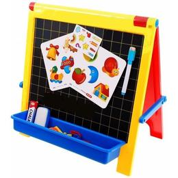 Tabla magnetica 4 in 1 MalPlay pentru copii cu litere,abtipilduri,creta si marker