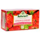 Ceai Capsuni si Zmeura Naturavit, 20 doze x 1,5 g