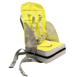 Inaltator scaun de masa portabil si pliabil galben-gri Poupy - Play&Go
