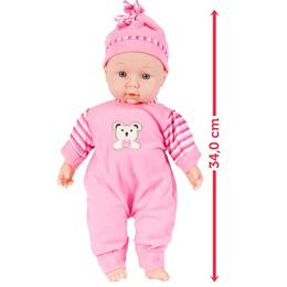 Papusa bebelus MalPlay pentru fetite cu sunete, 34 cm