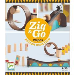 Zig&Go Djeco, set de construcție trasee, 25 piese