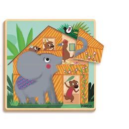 Puzzle straturi Djeco- Cabana