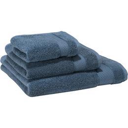 Set 3 x prosoape bumbac 100%, Patru anotimpuri, culoare albastru metalic