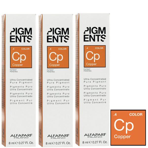 Pachet 3 x Pigment Concentrat Aramiu - Alfaparf Milano Ultra Concentrated Pure Pigment COPPER 8 ml imagine produs