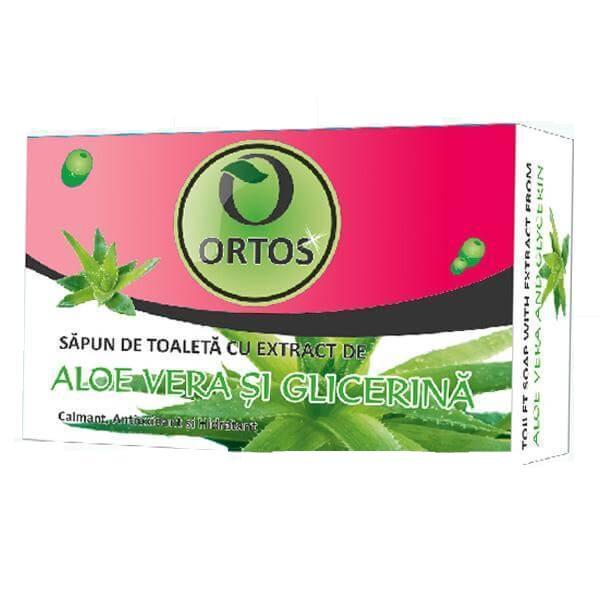 Sapun cu Aloe Vera si Glicerina Ortos Prod, 100g imagine produs