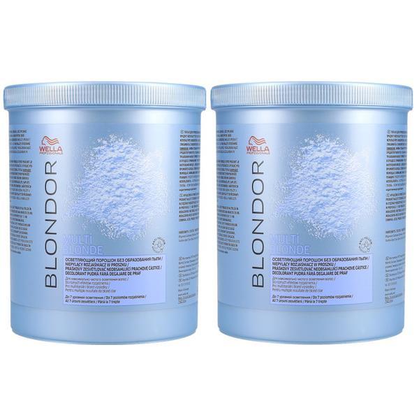 Pachet 2 x Pudra Decoloranta - Wella Professionals Blondor Multi Blonde Powder 800 gr poza
