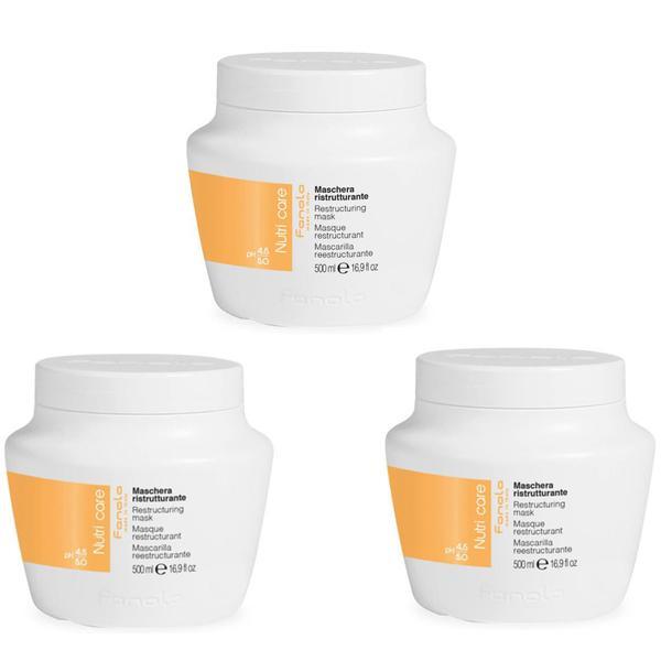 Pachet 3 x Masca Restructuranta - Fanola Nutri Care Restructuring Mask, 500ml