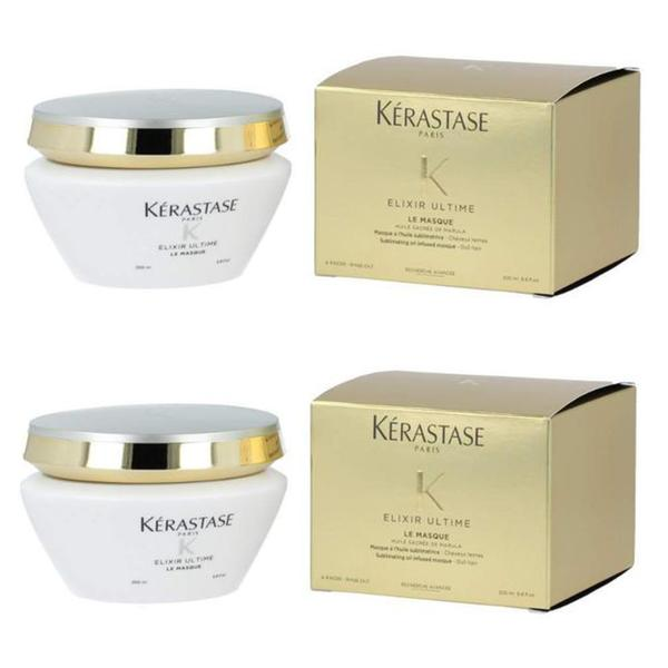 Pachet 2 x Masca pentru Stralucire - Kerastase Elixir Ultime Le Masque Sublimating Oil Infused Masque, 200ml imagine produs