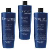 Pachet 3 x Sampon pentru Netezire - Fanola Keraterm Hair Ritual Anti-Frizz Disciplining Shampoo, 1000ml