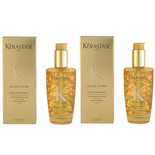 Pachet 2 x Ser pentru Stralucire - Kerastase Elixir Ultime L'Huile Originale Versatile Beautifying Oil, 100ml