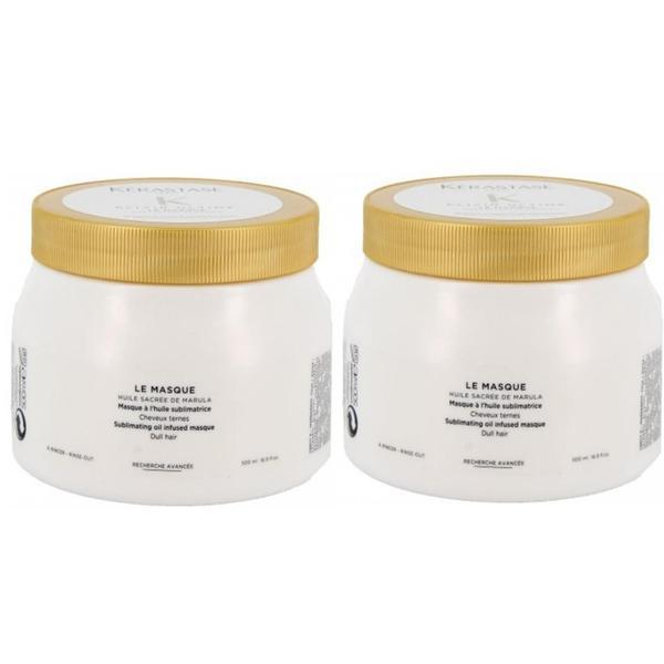Pachet 2 x Masca pentru Stralucire - Kerastase Elixir Ultime Le Masque Sublimating Oil Infused Masque, 500ml imagine
