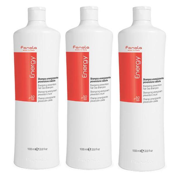 Pachet 3 x Sampon Energizant impotriva Caderii Parului - Fanola Energy Energizing Prevention Hair Loss Shampoo, 1000ml imagine produs