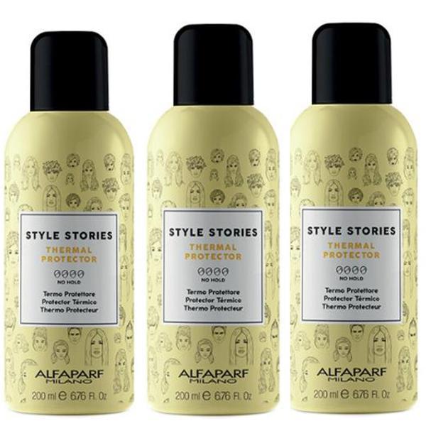 Pachet 3 x Spray pentru Protectie Termica - Alfaparf Milano Style Stories Thermal Protector, 200ml imagine produs