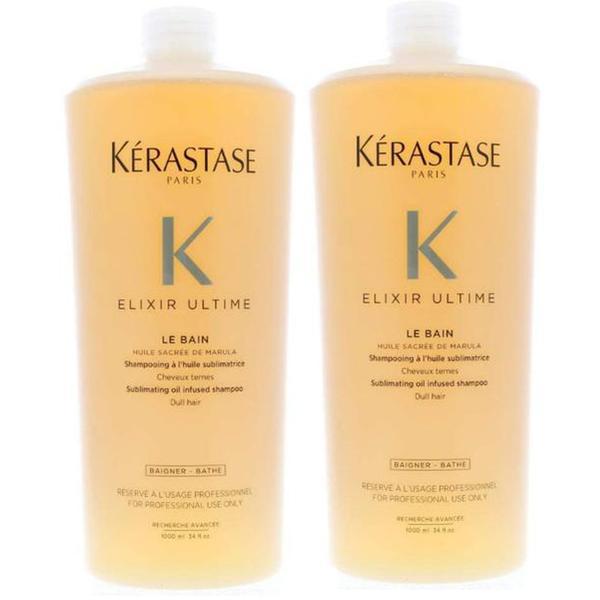 Pachet 2 x Sampon pentru Stralucire - Kerastase Elixir Ultime Le Bain Sublimating Oil Infused Shampoo, 1000ml imagine produs