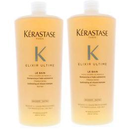Pachet 2 X Sampon Pentru Stralucire - Kerastase Elixir Ultime Le Bain Sublimating Oil Infused Shampoo, 1000ml