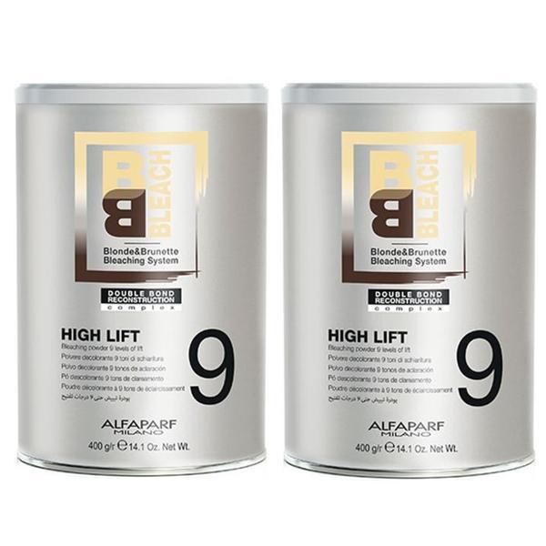 Pachet 2 x Pudra Decoloranta 9 Tonuri - Alfaparf Milano BB Bleach High Lift Bleaching Powder 9 Levels of Lift, 400g imagine produs